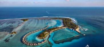 Aerial view of Cinnamon Dhonveli Maldives